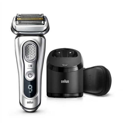 Braun Shaver Series 9 9390cc Operating time (max) 60 min, Lithium Ion, Number of shaver heads/blades 5, Silver, Cordless, Wet & Dry