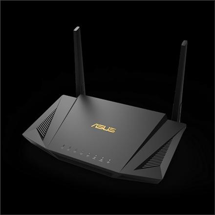 Asus Router RT-AX56U 802.11ax, 10/100/1000 Mbit/s, Ethernet LAN (RJ-45) ports 4, Mesh Support Yes, MU-MiMO Yes, 3G/4G via optional USB adapter, Antenna type External, 1xUSB 2.0, 1xUSB 3.1 Gen 1, WiFi 6 Gaming Router, AiMesh support, AiProtection Pro, WTFast game accelerator, Adaptive QoS, AiCloud 2.0, AiDisk, AiRadar | Asus PROMO! Pirk ir gauk 3 mėn. NETFLIX prenumeratą!