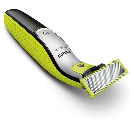 Philips Shaver QP2630/30 OneBlade Cordless, Charging time 4 h, Wet use, Lithium Ion, Number of shaver heads/blades 2, Lime green/Charcoal grey