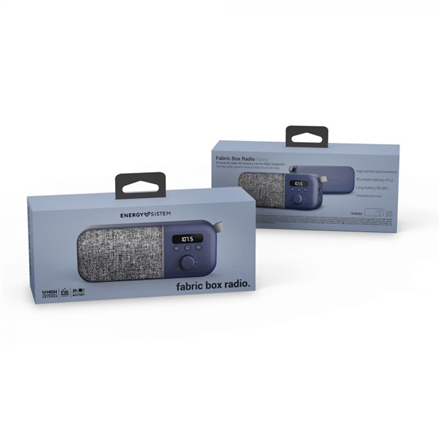 Energy Sistem Fabric Box FM Radio 3 W, Navy