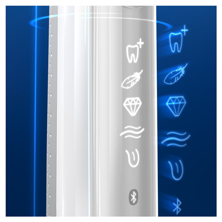 Oral-B Electric Toothbrush Genius X 20000N For adults, Rechargeable, Operating time 12 weeks min, Teeth brushing modes 6, Number of brush heads included 1, White