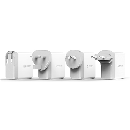 Orico 34W 4 Port USB Smart Wall Charger DSP-4U-US-WH-BP