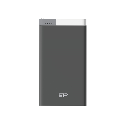 Silicon Power Powerbank S55 Lithium Polymer, Black, 5.000 mAh, Micro B: 5V/2A, 3 hours, USB: DC 5V/2.1A, Charges 1.5 smartphones; > 500 charging cycles