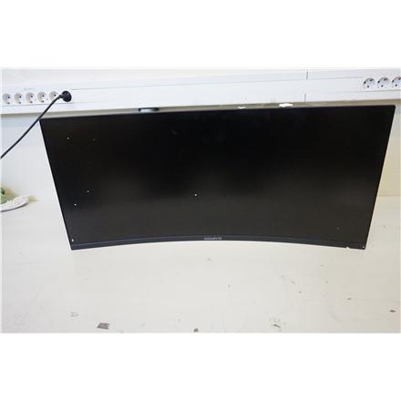 "SALE OUT. GIGABYTE MONITOR 34"" G34WQC-EK Gigabyte Gaming Monitor G34WQC-EK 34 "", QHD, 3440 x 1440 pixels, Warranty 36 month(s), DAMAGED PACKAGING, 144 Hz, HDMI ports quantity 2"