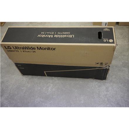 "SALE OUT. LG 34BN770-B 34"" IPS/3440x1440/21:9/5ms/300cd/m2/ HDMI DP USB LG UltraWide Monitor with AMD Free Sync 34BN770-B 34 "", IPS, QHD, 3440 x 1440 pixels, 21:9, 5 ms, 300 cd/m², Black, DAMAGED PACKAGING"