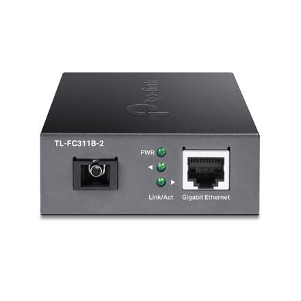 TP-LINK Gigabit Single-Mode WDM Media Converter TL-FC311B-2 Gigabit SC Fiber Port, 10/100/1000 Mbps RJ45 Port (Auto MDI/MDIX)