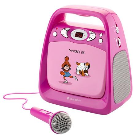 GoGen Portable Maxi Karaoke CD Player with bluetooth GOGMAXIKARAOKEP Pink, 6xLR14 (type C)