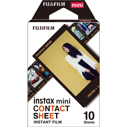 Fujifilm Instant Film Instax Mini Contact Sheet Quantity 10, 54 cm x 86 mm