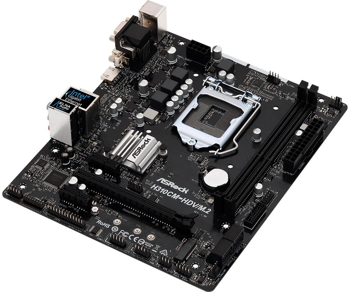 ASROCK H310CM-HDV/M.2 LGA1151 DDR4