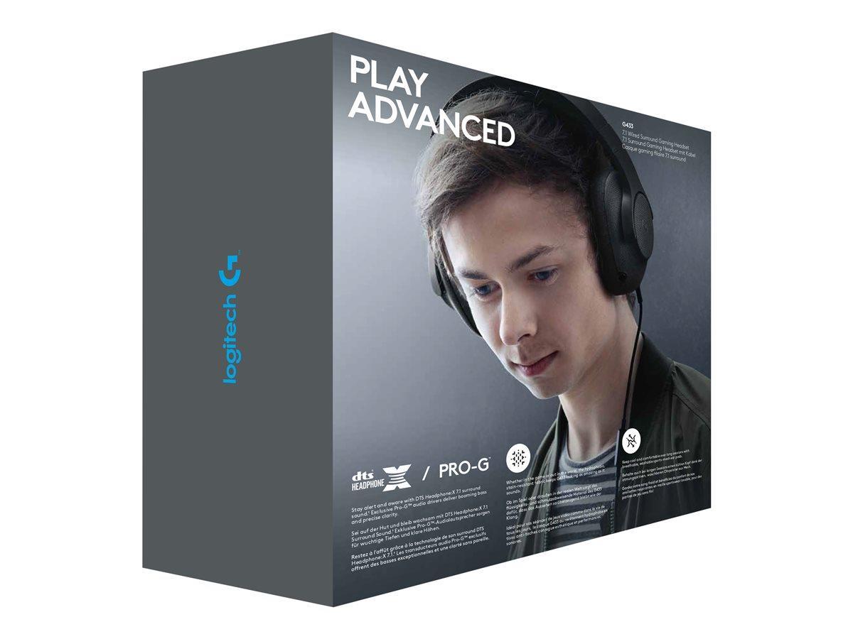 LOGI G433 Gaming Headset BLACK EMEA