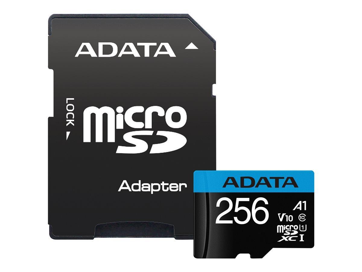 ADATA 256GB Micro SDXC V10 100MB/s + ad.