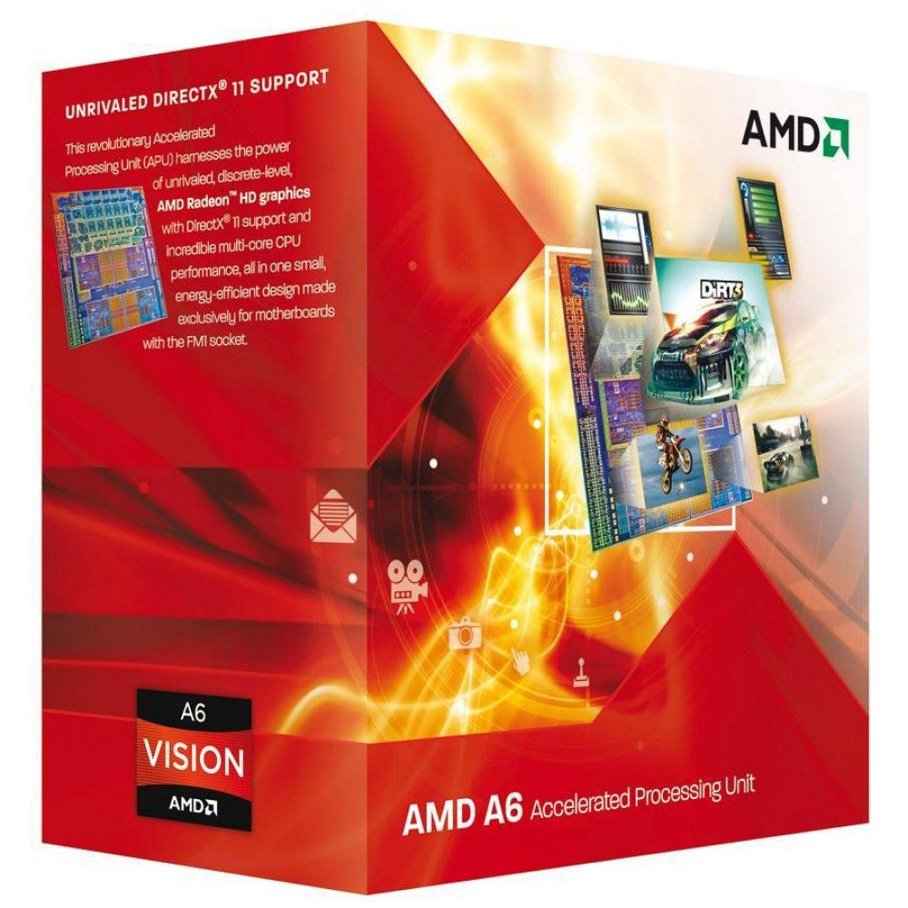 AMD CPU Richland A6-Series X2 6400K (3.9GHz,1MB,65W,FM2) box, Black Edition, Radeon TM HD 8470D