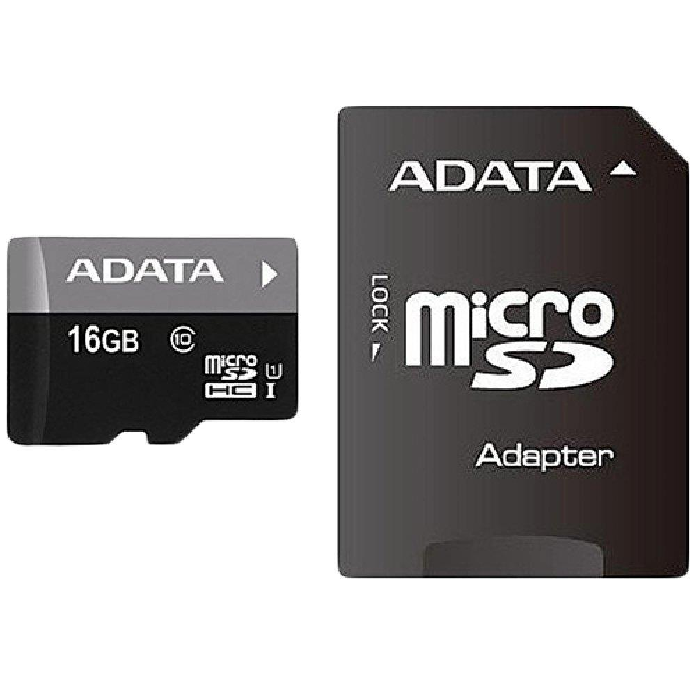 ADATA Premier microSDHC 16GB UHS-1 Class 10 (R 50/ W10 MB/s) +SD adapter