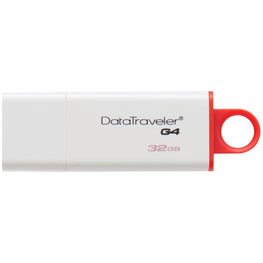 Kingston 32GB USB 3.0 DataTraveler I G4 (White + Red) EAN: 740617220469