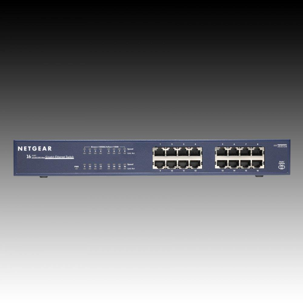 Switch NETGEAR 16 x 10/100/1000 Ethernet Switch Rack-mountable