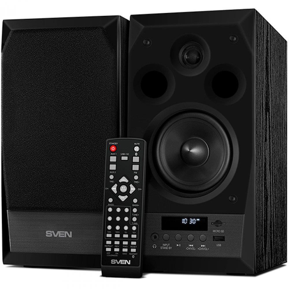 Speakers SVEN MC-10, black (50W, FM, USB/microSD, Display, RC, Bluetooth), SV-014018