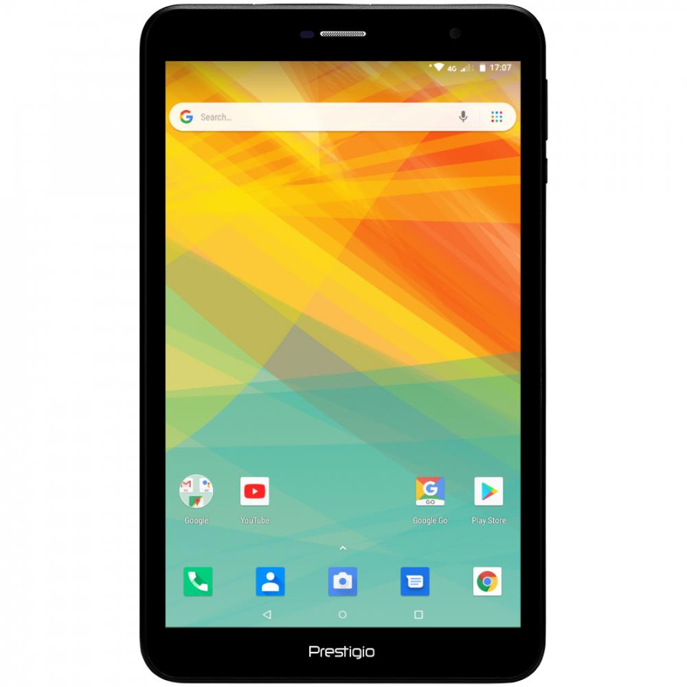 """Prestigio WIZE 4118 3G, PMT4118_3G_C, Single Micro-SIM, have call  function, 8.0"""" WXGA(800*1280) IPS display, up to 1.3GHz quad core processor, android 8.1 go, 1GB RAM+8GB ROM, 0.3MP front+2MP rear camera, 3800mAH battery"""