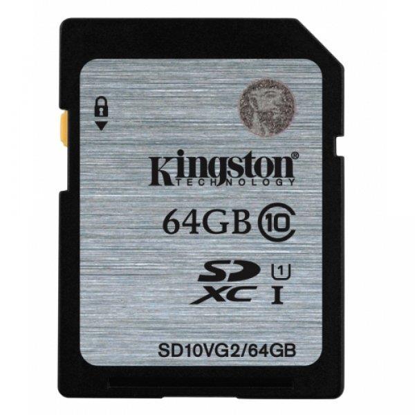 Kingston  64GB SDXC Class10 UHS-I 45MB/s Read Flash Card, EAN: '740617243512