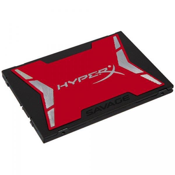 "KINGSTON HyperX SAVAGE 120GB SSD, 2.5"" 7mm, SATA 6 Gb/s, Read/Write: 560 / 360 MB/s, Random Read/Write IOPS 93K/83K"