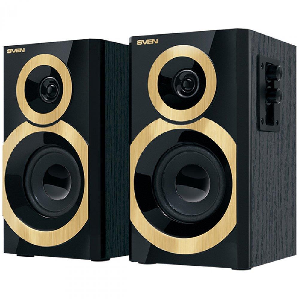 Speakers SVEN SPS-619 GOLD, black (20W), SV-0120619GD