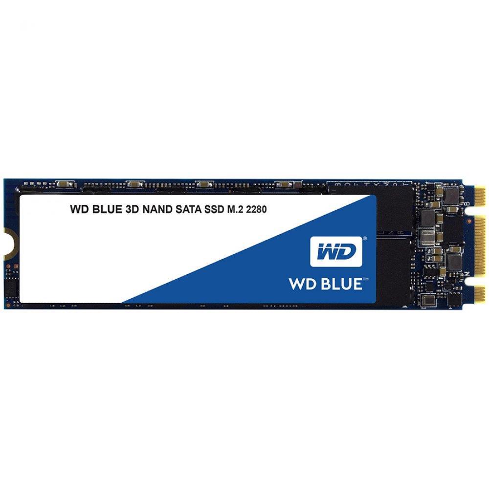SSD WD Blue (M.2, 500GB, SATA III 6 Gb/s, 3D NAND Read/Write: 560 / 530 MB/sec, Random Read/Write IOPS 95K/84K)