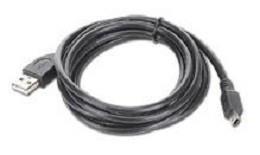 CABLE USB2 AM-MINI 1.8M BLACK/CCP-USB2-AM5P-6 GEMBIRD