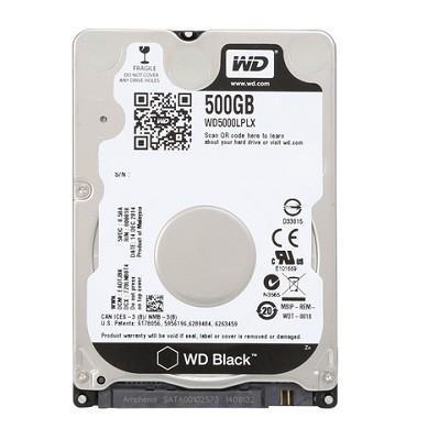 """HDD WESTERN DIGITAL Black 500GB SATA 3.0 32 MB 7200 rpm 2,5"""" Thickness 7mm WD5000LPLX"""
