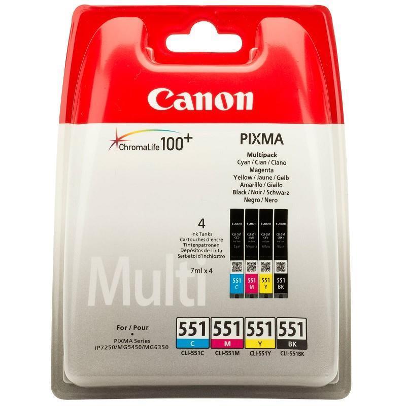 INK CARTRIDGE MULTIPACK CMYK/CLI-551 6509B008 CANON