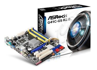 Mainboard ASROCK Intel G41 Express LGA775 MicroATX 1xPCI-Express 1x 1xPCI-Express 16x 2xPCI Memory DDR2/DDR3 Memory slots DDRII*2 / DDR3*2 1x15pin D-sub 1xAudio-In 1xAudio-Out 1xMicrophone 4xUSB 2.0 1xCOM 2xPS/2 1xRJ45 G41C-GSR2.0