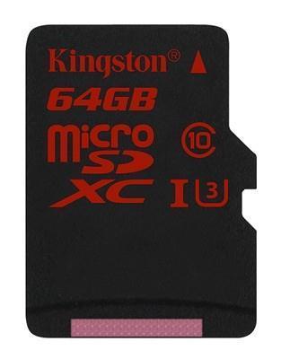 MEMORY MICRO SDXC 64GB UHS-3/SDCA3/64GBSP KINGSTON