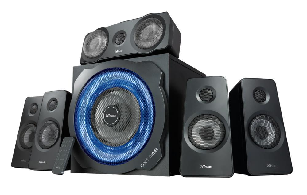 Speaker TRUST P.M.P.O. 180 Watts 3xStereo jack 3.5mm Black 21738