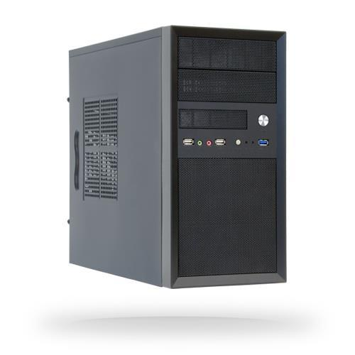 Case CHIEFTEC MiniTower MicroATX Colour Black CT-01B-OP