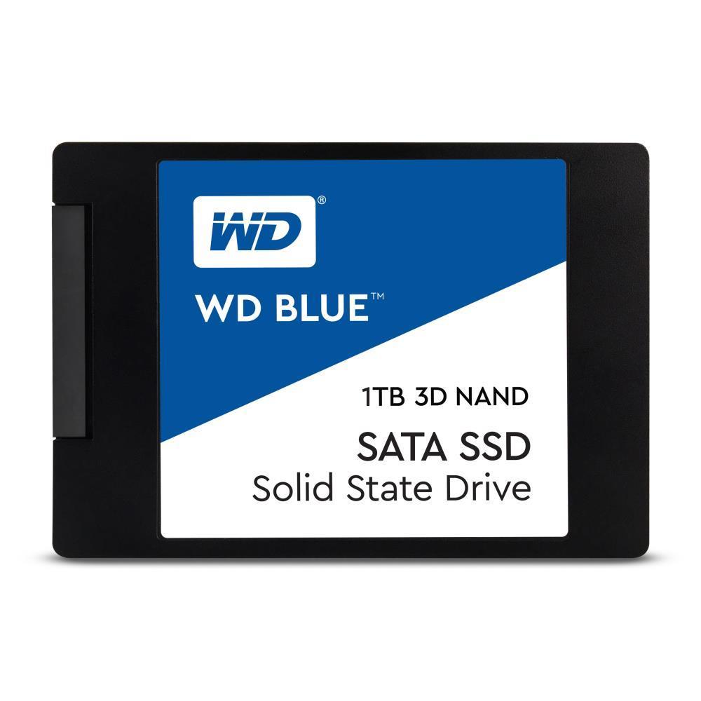 """SSD WESTERN DIGITAL Blue 1TB SATA 3.0 TLC Write speed 530 MBytes/sec Read speed 560 MBytes/sec 2,5"""" TBW 400 TB MTBF 1750000 hours WDS100T2B0A"""