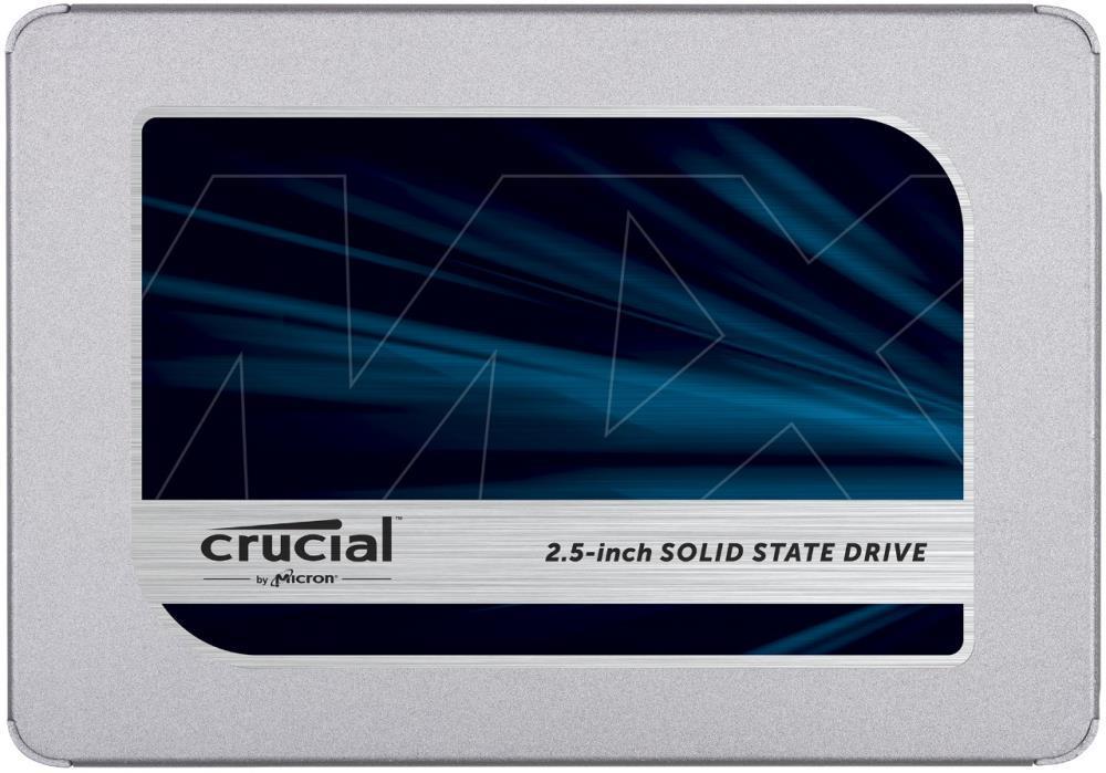 "SSD|CRUCIAL|MX500|500GB|SATA 3.0|TLC|Write speed 510 MBytes/sec|Read speed 560 MBytes/sec|2,5""|MTBF 1800000 hours|CT500MX500SSD1"