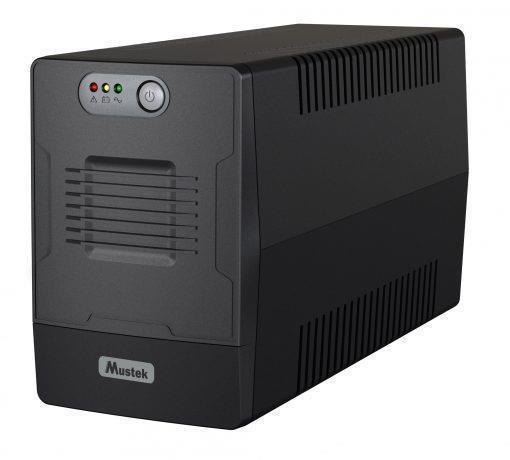 UPS MUSTEK 360 Watts 650 VA Wave form type Simulated sinewave LineInteractive Desktop/pedestal 600-LED-LIG-T10