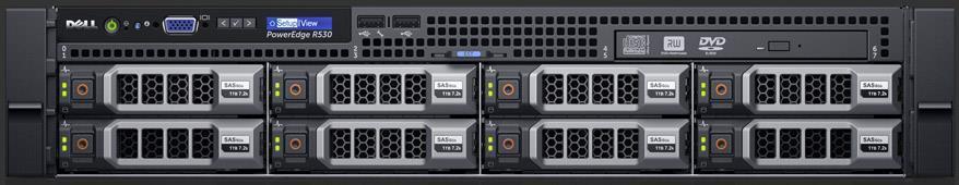 SERVER R530 E5-2620V4 H730/8X3.5/2XPSU/RAILS/3Y SPEC DELL