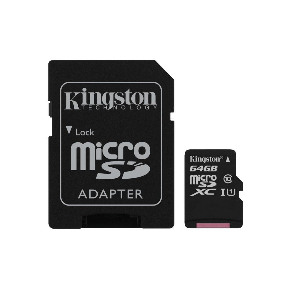 MEMORY MICRO SDXC 64GB UHS-I/W/ADAPTER SDCS/64GB KINGSTON