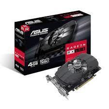 Graphics Card|ASUS|AMD Radeon RX 550|4 GB|128 bit|GDDR5|Memory 7000 MHz|GPU 1071 MHz|Dual Slot Fansink|1xDVI|1xHDMI|1xDisplayPort|PH-RX550-4G-M7