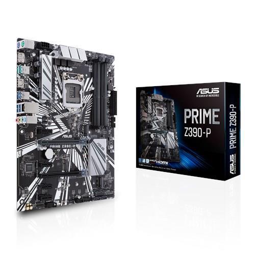 Mainboard ASUS Intel Z390 Express LGA1151 ATX 4xPCI-Express 3.0 1x 2xPCI-Express 3.0 16x 2xM.2 Memory DDR4 Memory slots 4 1xHDMI 1xDisplayPort 1xAudio-In 1xAudio-Out 1xMicrophone 6xUSB 3.1 2xPS/2 1xRJ45 PRIMEZ390-P