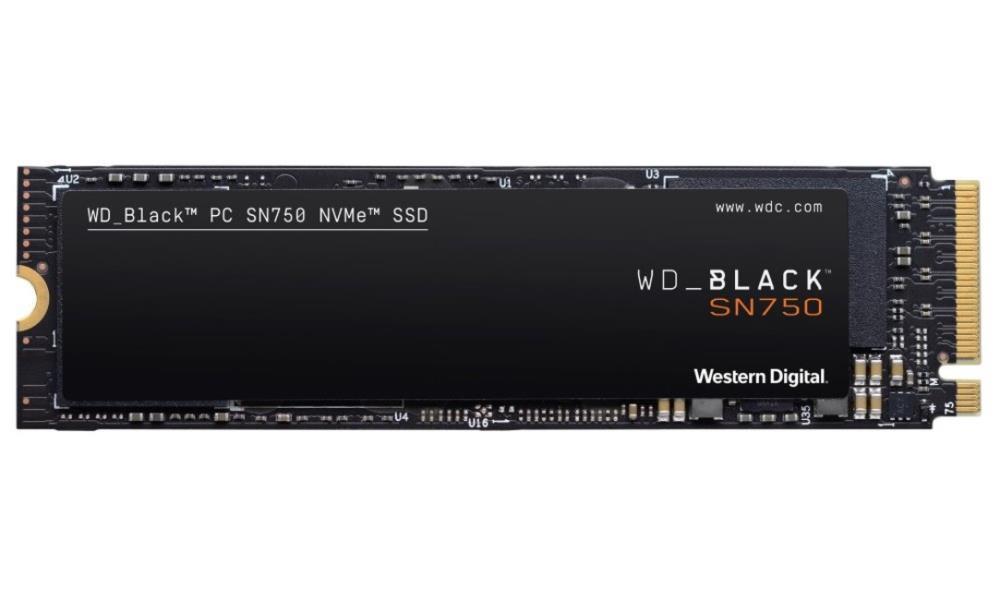 SSD|WESTERN DIGITAL|Black SN750|500GB|M.2|PCIE|NVMe|Write speed 2600 MBytes/sec|Read speed 3470 MBytes/sec|2.38mm|TBW 300 TB|MTBF 1750000 hours|WDS500G3X0C