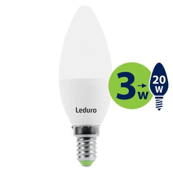 Light Bulb|LEDURO|Power consumption 3 Watts|Luminous flux 200 Lumen|2700 K|220-240V|Beam angle 360 degrees|21130
