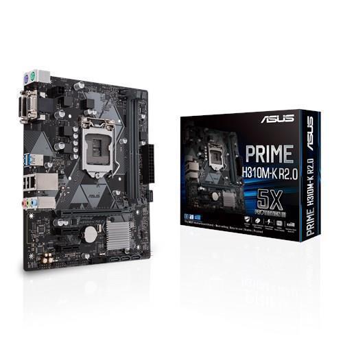Mainboard ASUS Intel H310 Express LGA1151 MicroATX 2xPCI-Express 2.0 1x 1xPCI-Express 3.0 16x Memory DDR4 Memory slots 2 1x15pin D-sub 1xDVI 1xAudio-In 1xAudio-Out 1xMicrophone 2xUSB 2.0 2xUSB 3.1 2xPS/2 1xRJ45 PRIMEH310M-KR2.0