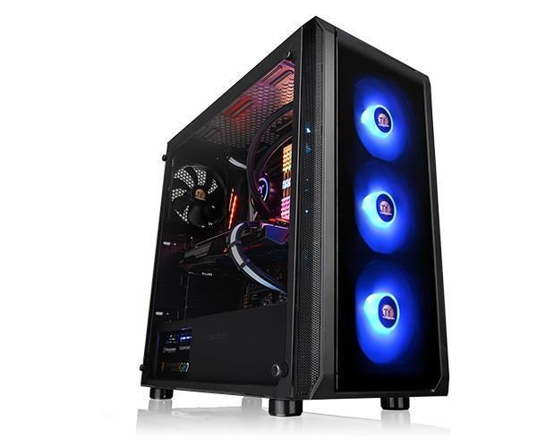 Case|THERMALTAKE|Versa J23 Tempered Glass RGB Edition|MidiTower|ATX 1.0|ATX|MicroATX|MiniITX|Colour Black|CA-1L6-00M1WN-01