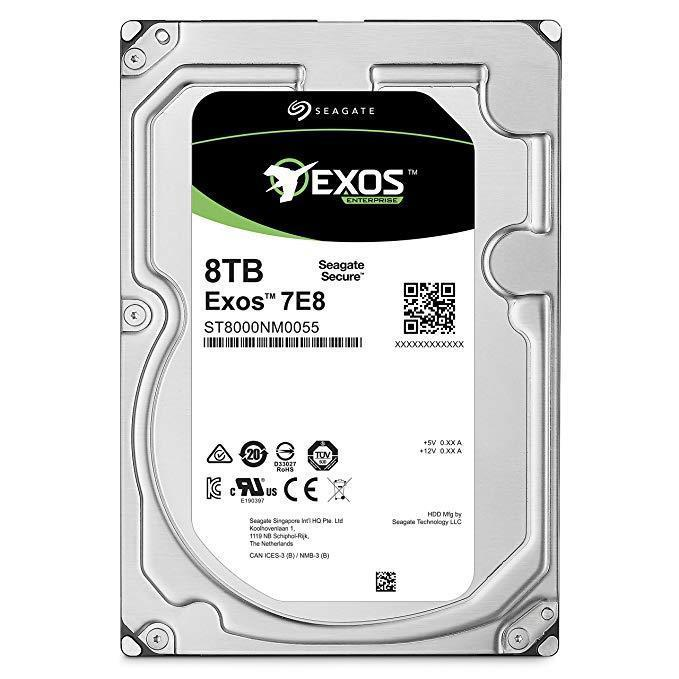HDD SEAGATE Exos 7E8 8TB SATA 3.0 256 MB 7200 rpm ST8000NM000A