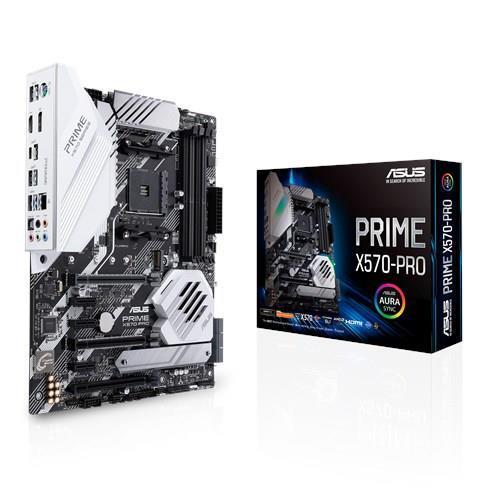 Mainboard ASUS AMD X570 SAM4 ATX 3xPCI-Express 1x 1xPCI-Express 4x 2xPCI-Express 16x 2xM.2 Memory DDR4 Memory slots 4 1xHDMI 1xDisplayPort 1xUSB type C 7xUSB 3.2 1xPS/2 1xOptical S/PDIF 1xRJ45 5xAudio port PRIMEX570-PRO