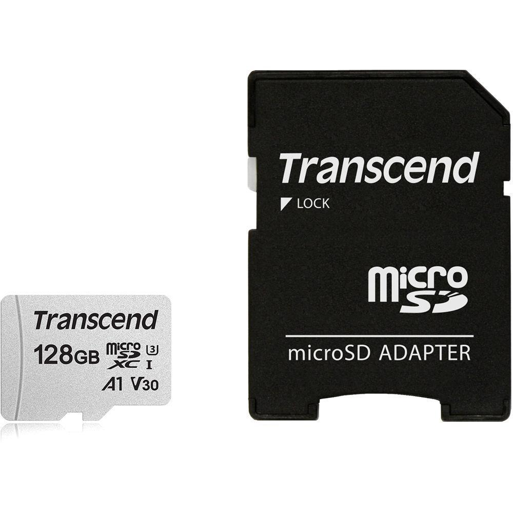 MEMORY MICRO SDXC 128GB W/ADAP/C10 TS128GUSD300S-A TRANSCEND