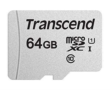 MEMORY MICRO SDXC 64GB/C10 TS64GUSD300S TRANSCEND