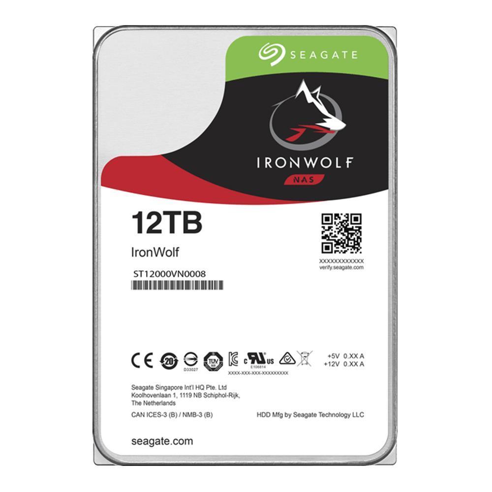"HDD SEAGATE IronWolf 12TB SATA 3.0 256 MB 7200 rpm 3,5"" ST12000VN0008"
