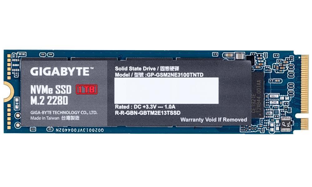 SSD|GIGABYTE|1TB|M.2|PCIE|NVMe|Write speed 2100 MBytes/sec|Read speed 2500 MBytes/sec|MTBF 1500000 hours|GP-GSM2NE3100TNTD