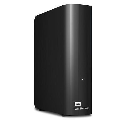 External HDD WESTERN DIGITAL Elements Desktop 10TB USB 3.0 Black WDBWLG0100HBK-EESN